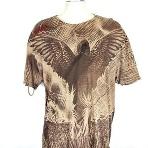 Affliction Distressed Field Of Dreams Angel Shirt
